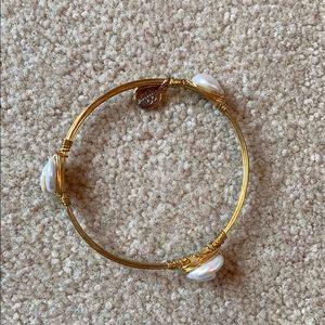 Bourbon & Bow ties pearl bracelet/ bangle